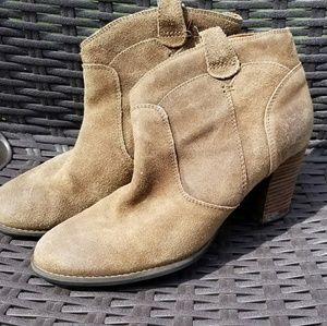 Clark's LEATHER booties.  Size 10